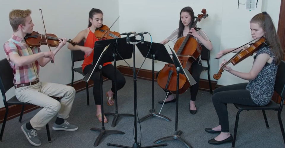 DMSO at Home: Honors String Quartet Plays Ravel